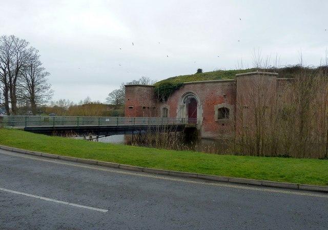 Fort Brockhurst - Bridge over the moat