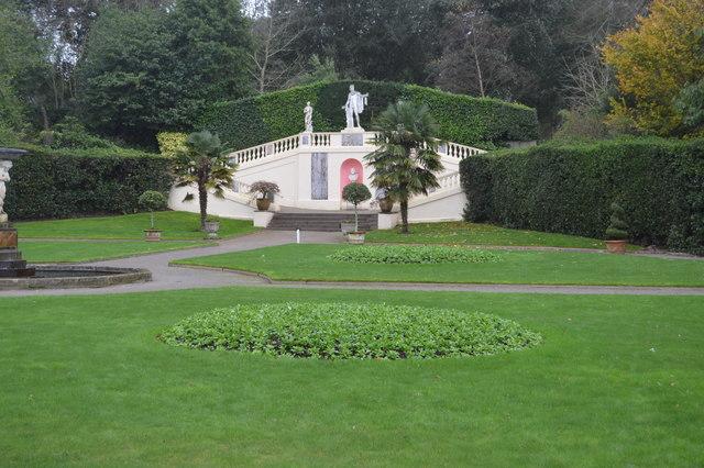 Staircase in Italian Garden, Mount Edgcumbe