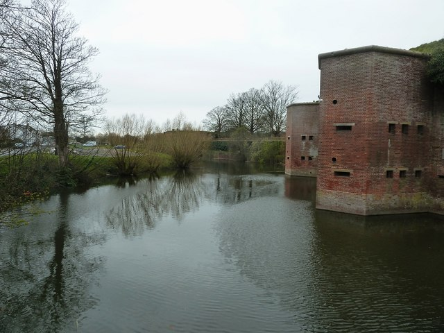 Fort Brockhurst - southeastern section of its moat