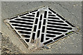 "J4668 : PAM ""Waterway"" drain cover, Comber (April 2016) by Albert Bridge"
