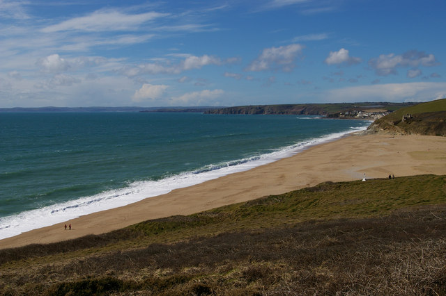 Loe Bar from above the HMS Anson monument