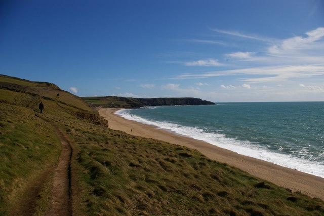 South West Coast Path south of Blue Rocks