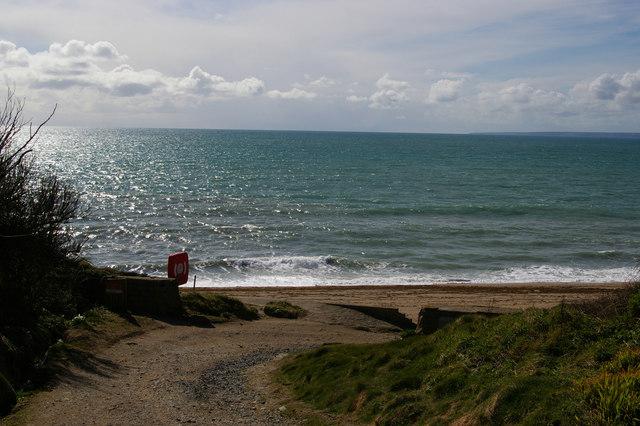 Lane to the sea at Gunwalloe Fishing Cove