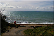 SW6522 : Lane to the sea at Gunwalloe Fishing Cove by Christopher Hilton