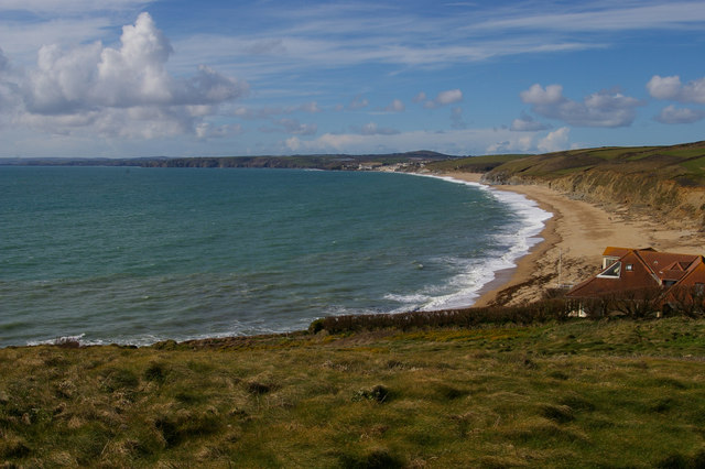 Gunwalloe Fishing Cove and Porthleven Sands from the south