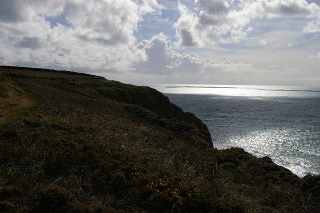 South West Coast Path along Halzephron Cliff