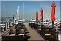 SX9163 : Outdoor tables, Torquay New Harbour by Derek Harper
