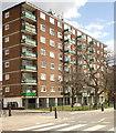 TQ2884 : Housing block, Castlehaven Road, Camden Town by Julian Osley