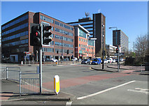 SJ8195 : The corner of Brian Statham Way by John Sutton