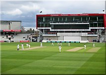 SJ8195 : Old Trafford: two England fast bowlers by John Sutton