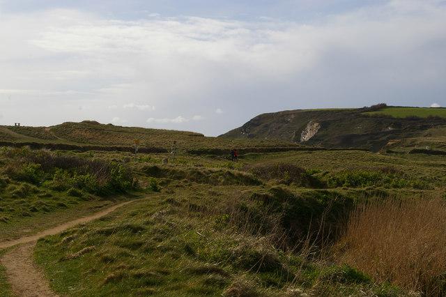 View onto the golf course, Church Cove, Gunwalloe