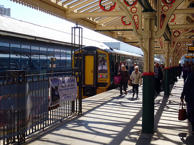 Boarding and alighting at Aberystwyth