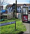 ST3387 : KFC advert on a BT phonebox, Newport by Jaggery