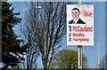 J3176 : Assembly election poster, Crumlin Road, Belfast - April 2016(1) by Albert Bridge