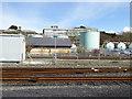 SN5881 : Storage Tanks near Aberystwyth Stationh by David Dixon