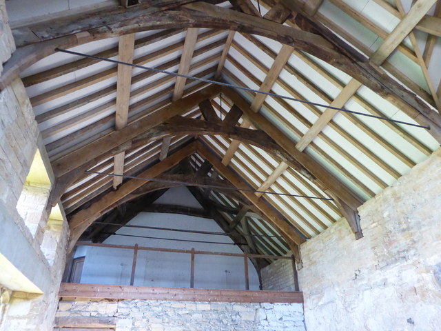 The roof of the old priory hall in Stoke-sub-Hampden