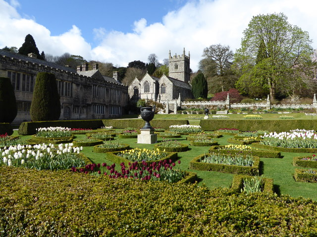 Formal garden at Lanhydrock House