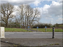 TM1154 : Cycleway across the A140 Norwich Road by Adrian Cable