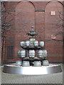 SK2423 : Fountain - Coors Burton Brewery by Chris Allen