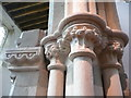 SO8729 : Carved capital in Deerhurst Church by Humphrey Bolton