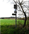 TM1054 : Bridleway Sign on Coddenham Road by Adrian Cable