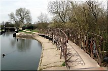 TL4311 : Unusual Footbridge at Parndon Mill Lock by Glyn Baker