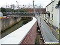 SX9884 : Temporary footbridge over Wotton Brook, Lympstone by Humphrey Bolton