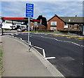 ST1478 : Traffic calmed area sign, Llandaff North, Cardiff by Jaggery