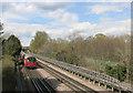TQ2388 : Train passing Hendon Park by Des Blenkinsopp