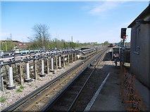 TQ1185 : An Underground train leaves for Epping by Marathon