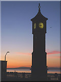SD4364 : The Clock Tower, Morecambe at dusk by Karl and Ali