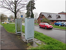 ST3091 : Traffic lights control cabinets, Malpas Road, Newport by Jaggery