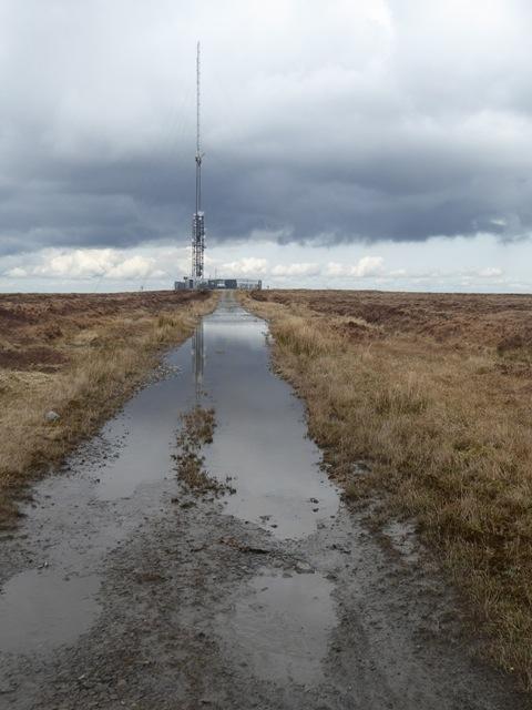 Telecommunications mast on Wolftrap Mountain