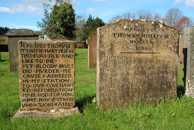 The Grave of Covenanter Thomas McHaffie