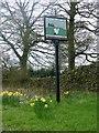 SJ9469 : Higher Sutton village sign by Graham Hogg
