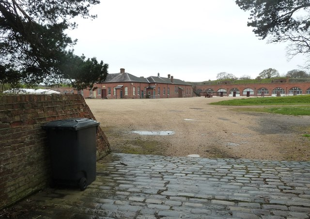 Fort Brockhurst - Looking into the courtyard