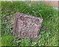 SJ5975 : Old Water Board Marker on Chapel Lane, Acton Bridge by Gary Rogers