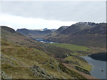 NY1618 : View from Rannerdale Knotts towards Buttermere by Anthony Foster