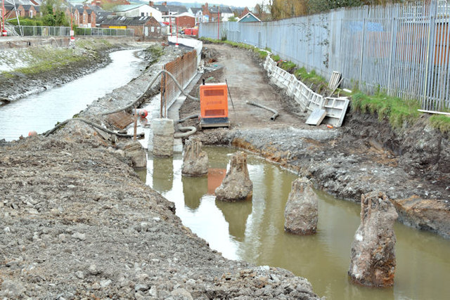Connswater path works, Belfast - April 2016(2)