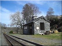 SH6742 : Dduallt Station by Mark Percy
