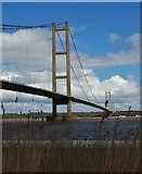 TA0223 : The Humber Bridge from the southern bank by Neil Theasby