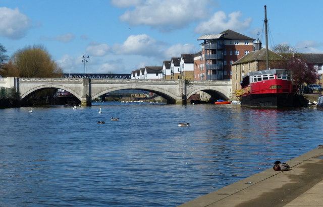 Bridge across the River Nene in Peterborough