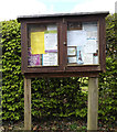 TM1854 : Ashbocking Village Notice Board by Adrian Cable