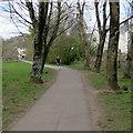 ST1479 : Jogging through Hailey Park, Llandaff North, Cardiff by Jaggery
