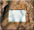 SJ9592 : Werneth Low triangle plaque by Gerald England