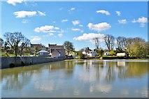 SN0403 : Mill Pond At Carew Castle by Deborah Tilley