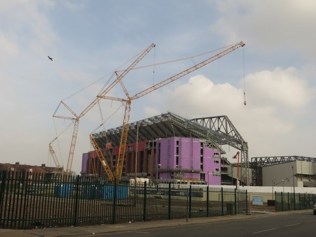 Main Stand expansion, Anfield, Liverpool