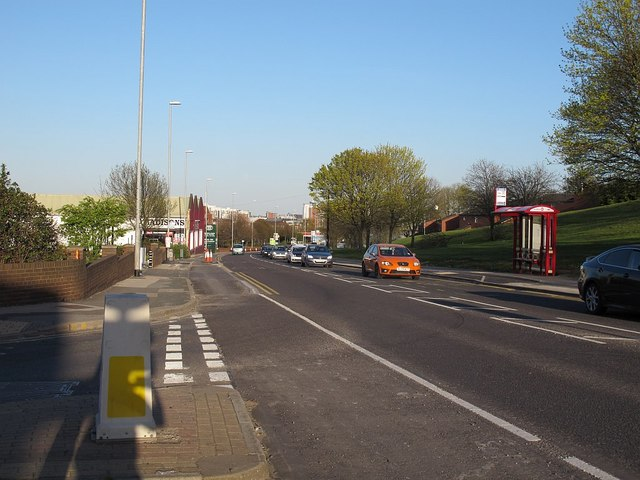 New cycle superhighway on Armley Road, Leeds