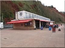 SX9265 : Oddicombe Beach cafe rebuilt by David Hawgood