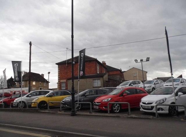 Vauxhall garage on The Causeway, Chippenham